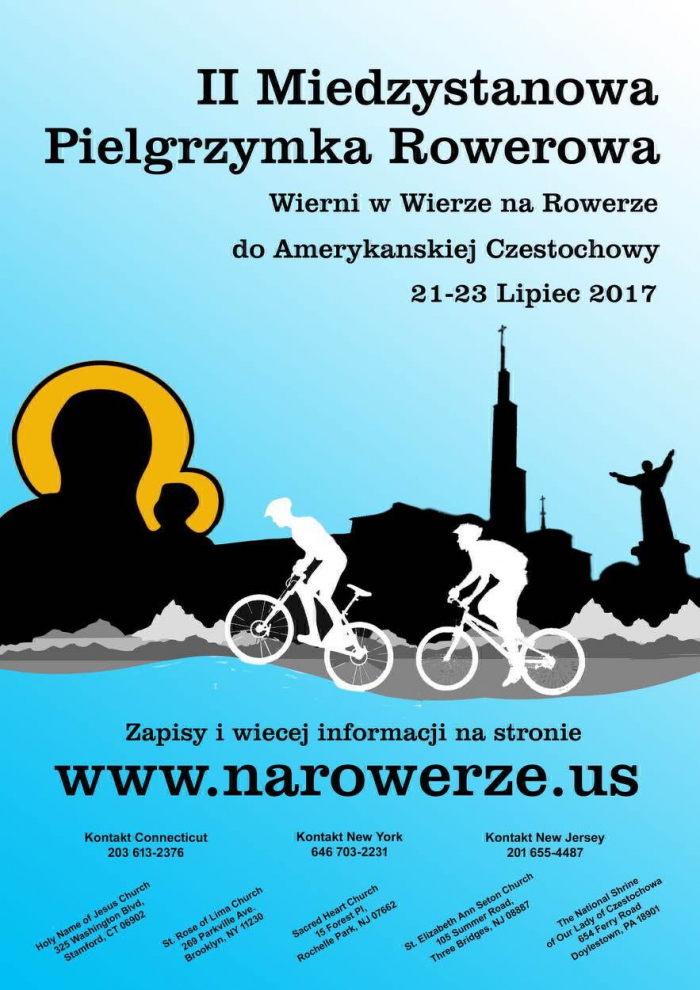 II Interstate Bicycle Pilgrimage - to the National Shrine of Our Lady of Czestochowa